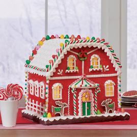 Gingerbread House with LED, Small
