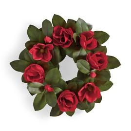 Red Magnolia Wreath