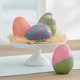 Charming Easter Eggs I, Set of Four