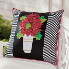 Poinsettia Outdoor Pillow