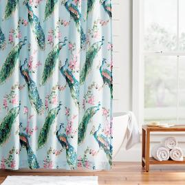 Giada Peacock Shower Curtain