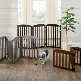 Freestanding Wooden Pet Gate