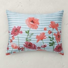 Poppy Stripe Sham