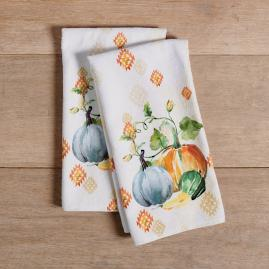 Pumpkin Patch Kitchen Towels, Set of Two