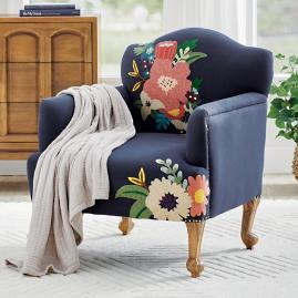 Astrid Embroidered Armchair