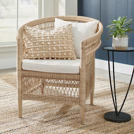 Athena Rattan Club Chair