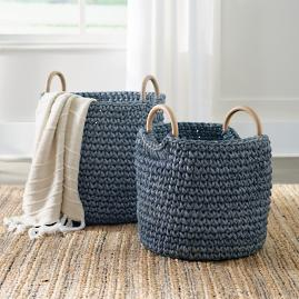 Sullivan Woven Baskets, Set of Two