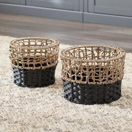 Tanner Woven Baskets, Set of Two