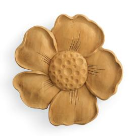 Carved Teak Flower