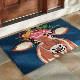 Betsy the Cow Hooked Door Mat