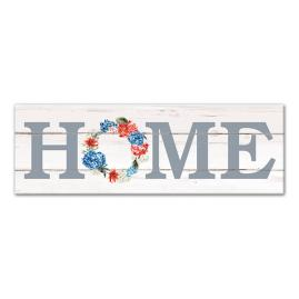 Home Patriotic Wreath Canvas