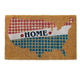 Gingham Home Coir Door Mat