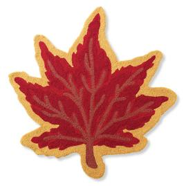 Maple Leaf Hooked Door Mat