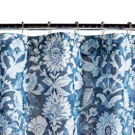 Laure Indigo Shower Curtain