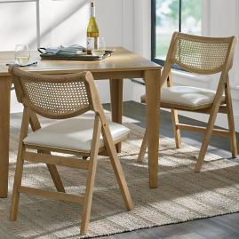 Madeira Folding Chairs, Set of Two