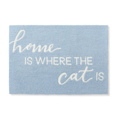 Cat Expression Hooked Mat - Grandin Road
