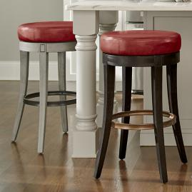 Aiken Red Swivel Bar & Counter Stool