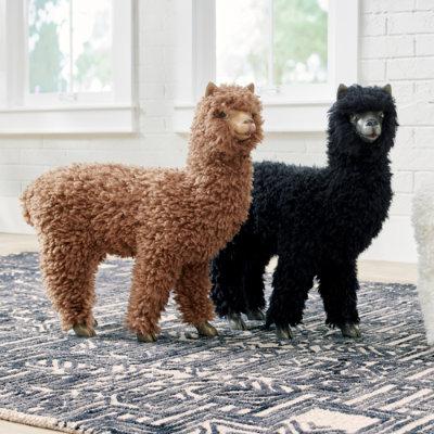 Wooly Llama - Black - Grandin Road