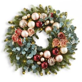 Blushing Winter Cordless Wreath