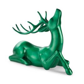 Green Sitting Deer