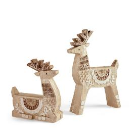 Bohemian Reindeer, Set of Two
