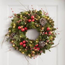 Hadley Holiday Cordless Wreath