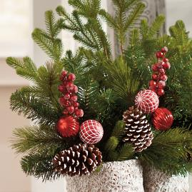 Festive Tree Pick, Set of Three