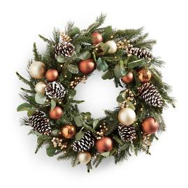 Copperfield Cordless Wreath