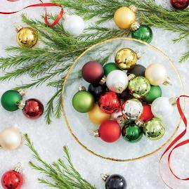 Classic Mini Ornaments, Set of 32