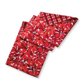 Reversible Poinsettia Table Runner