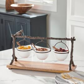 Oak Branch Snack Bowl Stand