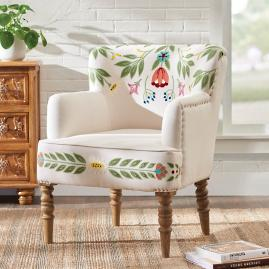 Gianna Embroidered Armchair