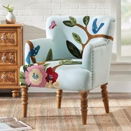 Cecelia Embroidered Armchair
