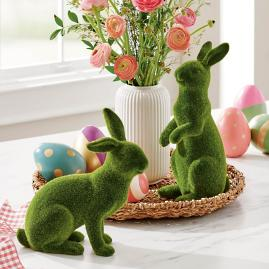 Mossy Rabbits, Set of Two