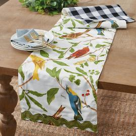 Birds Reversible Table Runner