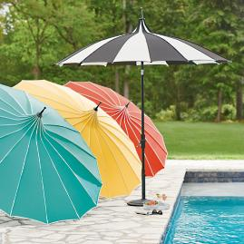 Collar Tilt Pagoda Umbrella
