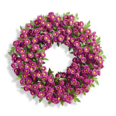 Mum Wreath - Orange - Grandin Road