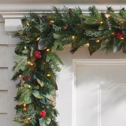 Pre-lit Woodland Christmas Garland : Grandin Road