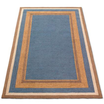 Multi border all weather outdoor rug grandin road for All weather patio rugs