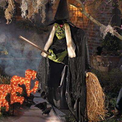 Flying Halloween Witch Grandin Road