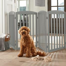 "36""H Freestanding Wooden Pet Gate"