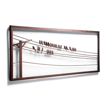 Wire Wall Art Home Decor : Birds on a wire wall decor grandin road