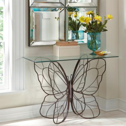 Nice Monarch Butterfly Console Table