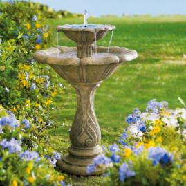 Avery Two-tier Solar Fountain