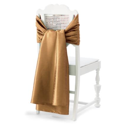 Faux Dupioni Chair Wrap