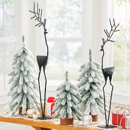 Metal Reindeer, Set of Two