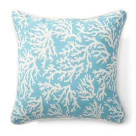 Blue Coral Outdoor Pillows