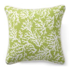 Green Coral Outdoor Pillows