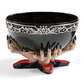 Spooky Hands with Ceramic Bowl