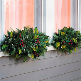 Woodland Set of Two Cordless Window Swags
